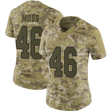 Women's Nike Washington Redskins Thaddeus Moss Camo 2018 Salute to Service Jersey - Limited