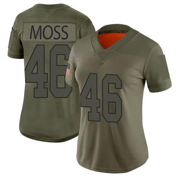 Women's Nike Washington Redskins Thaddeus Moss Camo 2019 Salute to Service Jersey - Limited