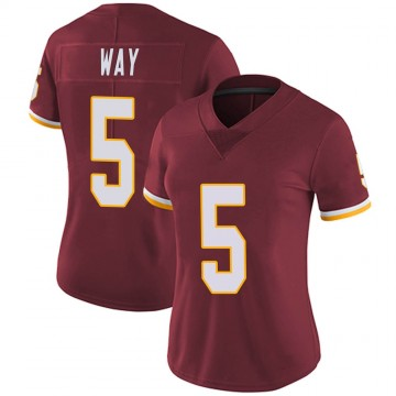 Women's Nike Washington Redskins Tress Way Burgundy Team Color Vapor Untouchable Jersey - Limited