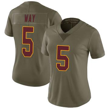 Women's Nike Washington Redskins Tress Way Green 2017 Salute to Service Jersey - Limited