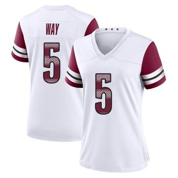 Women's Nike Washington Redskins Tress Way White Jersey - Game