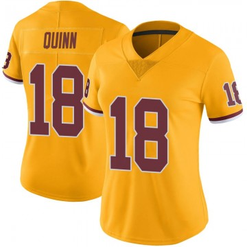 Women's Nike Washington Redskins Trey Quinn Gold Color Rush Jersey - Limited