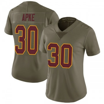 Women's Nike Washington Redskins Troy Apke Green 2017 Salute to Service Jersey - Limited