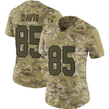 Women's Nike Washington Redskins Vernon Davis Camo 2018 Salute to Service Jersey - Limited