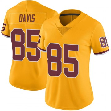 Women's Nike Washington Redskins Vernon Davis Gold Color Rush Jersey - Limited