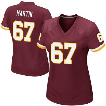 Women's Nike Washington Redskins Wes Martin Burgundy Team Color Jersey - Game