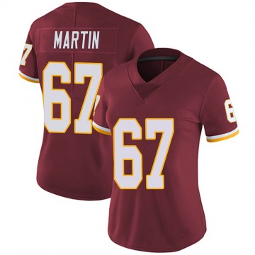 Women's Nike Washington Redskins Wes Martin Burgundy Team Color Vapor Untouchable Jersey - Limited