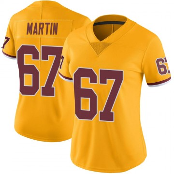 Women's Nike Washington Redskins Wes Martin Gold Color Rush Jersey - Limited