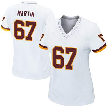 Women's Nike Washington Redskins Wes Martin White Jersey - Game