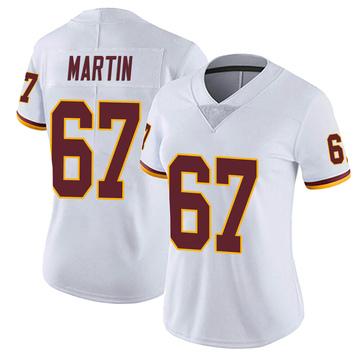Women's Nike Washington Redskins Wes Martin White Vapor Untouchable Jersey - Limited
