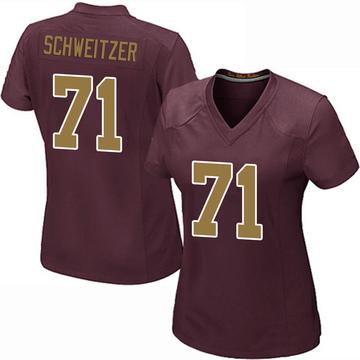 Women's Nike Washington Redskins Wes Schweitzer Burgundy Alternate Jersey - Game