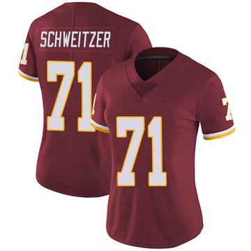 Women's Nike Washington Redskins Wes Schweitzer Burgundy Team Color Vapor Untouchable Jersey - Limited