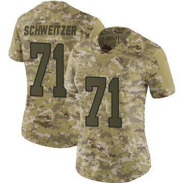 Women's Nike Washington Redskins Wes Schweitzer Camo 2018 Salute to Service Jersey - Limited