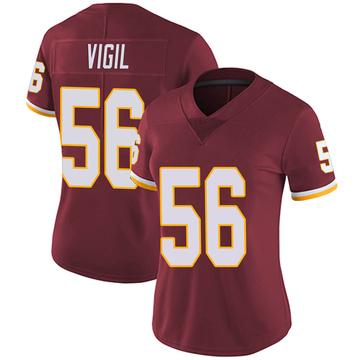 Women's Nike Washington Redskins Zach Vigil Burgundy Team Color Vapor Untouchable Jersey - Limited