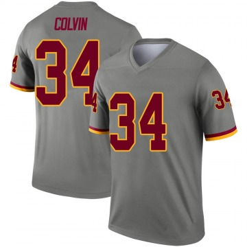 Youth Nike Washington Redskins Aaron Colvin Gray Inverted Jersey - Legend