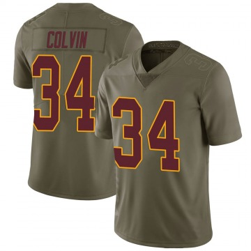 Youth Nike Washington Redskins Aaron Colvin Green 2017 Salute to Service Jersey - Limited