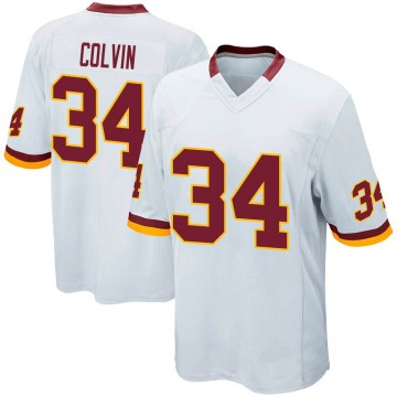 Youth Nike Washington Redskins Aaron Colvin White Jersey - Game