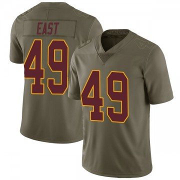 Youth Nike Washington Redskins Andrew East Green 2017 Salute to Service Jersey - Limited