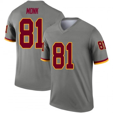 Youth Nike Washington Redskins Art Monk Gray Inverted Jersey - Legend