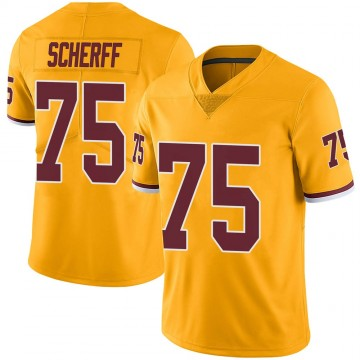 Youth Nike Washington Redskins Brandon Scherff Gold Color Rush Jersey - Limited