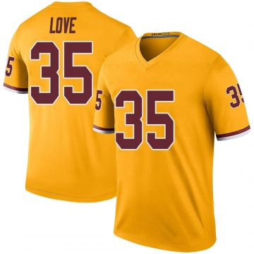 Youth Nike Washington Redskins Bryce Love Gold Color Rush Jersey - Legend