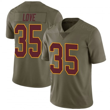 Youth Nike Washington Redskins Bryce Love Green 2017 Salute to Service Jersey - Limited