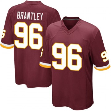 Youth Nike Washington Redskins Caleb Brantley Burgundy Team Color Jersey - Game