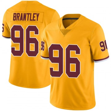 Youth Nike Washington Redskins Caleb Brantley Gold Color Rush Jersey - Limited