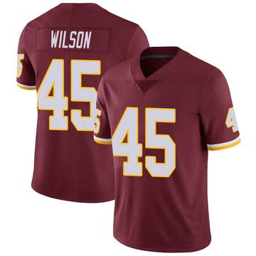 Youth Nike Washington Redskins Caleb Wilson Burgundy 100th Vapor Jersey - Limited