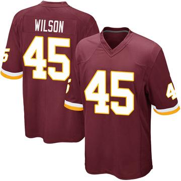 Youth Nike Washington Redskins Caleb Wilson Burgundy Team Color Jersey - Game
