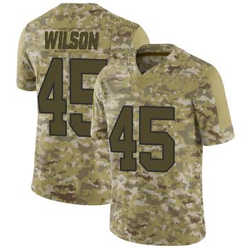 Youth Nike Washington Redskins Caleb Wilson Camo 2018 Salute to Service Jersey - Limited