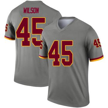 Youth Nike Washington Redskins Caleb Wilson Gray Inverted Jersey - Legend