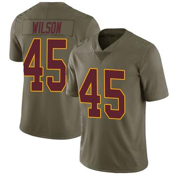 Youth Nike Washington Redskins Caleb Wilson Green 2017 Salute to Service Jersey - Limited