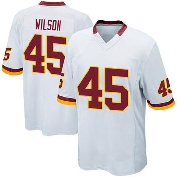 Youth Nike Washington Redskins Caleb Wilson White Jersey - Game