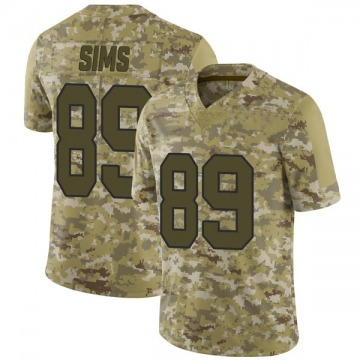 Youth Nike Washington Redskins Cam Sims Camo 2018 Salute to Service Jersey - Limited