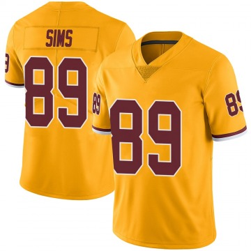 Youth Nike Washington Redskins Cam Sims Gold Color Rush Jersey - Limited