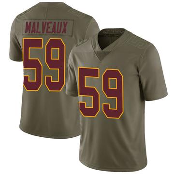Youth Nike Washington Redskins Cameron Malveaux Green 2017 Salute to Service Jersey - Limited