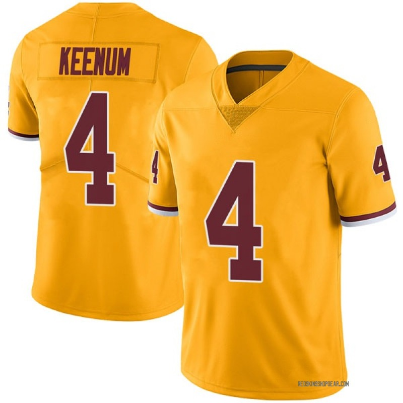 wholesale dealer 1fb7a 64dd2 Youth Nike Washington Redskins Case Keenum Gold Color Rush Jersey - Limited