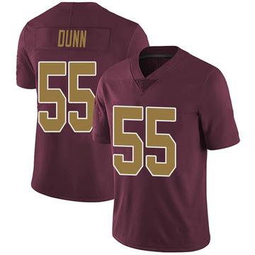 Youth Nike Washington Redskins Casey Dunn Burgundy Alternate Vapor Untouchable Jersey - Limited