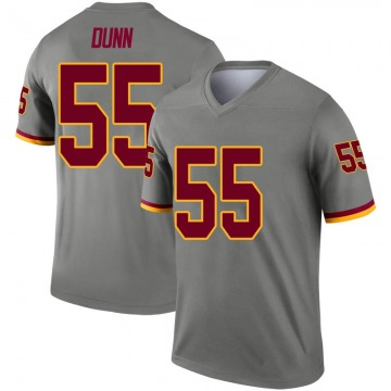 Youth Nike Washington Redskins Casey Dunn Gray Inverted Jersey - Legend