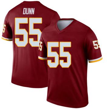 Youth Nike Washington Redskins Casey Dunn Inverted Burgundy Jersey - Legend
