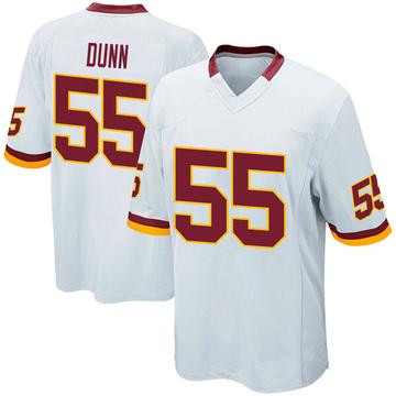 Youth Nike Washington Redskins Casey Dunn White Jersey - Game