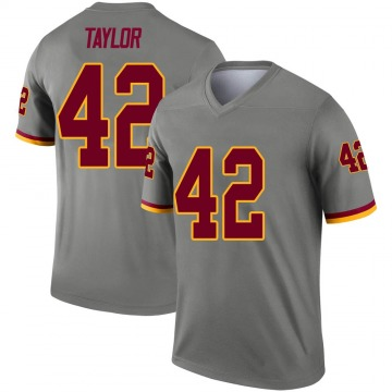 Youth Nike Washington Redskins Charley Taylor Gray Inverted Jersey - Legend