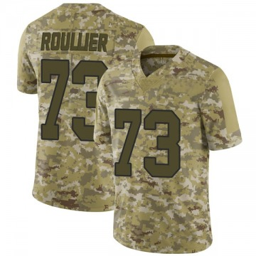 Youth Nike Washington Redskins Chase Roullier Camo 2018 Salute to Service Jersey - Limited
