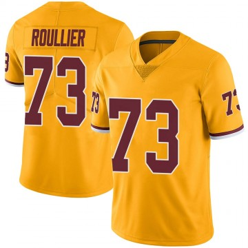 Youth Nike Washington Redskins Chase Roullier Gold Color Rush Jersey - Limited