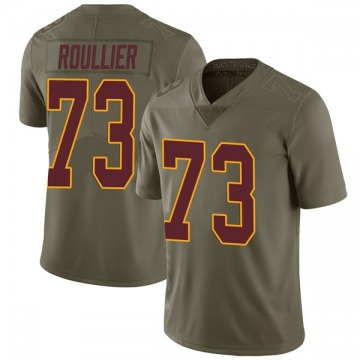 Youth Nike Washington Redskins Chase Roullier Green 2017 Salute to Service Jersey - Limited