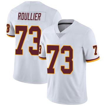 Youth Nike Washington Redskins Chase Roullier White Vapor Untouchable Jersey - Limited