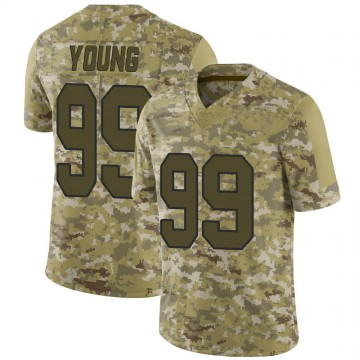 Youth Nike Washington Redskins Chase Young Camo 2018 Salute to Service Jersey - Limited