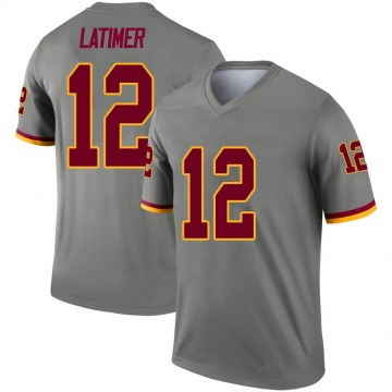 Youth Nike Washington Redskins Cody Latimer Gray Inverted Jersey - Legend