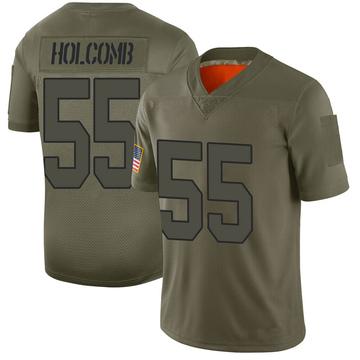 Youth Nike Washington Redskins Cole Holcomb Camo 2019 Salute to Service Jersey - Limited